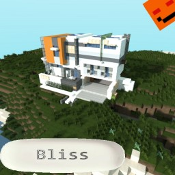 Bliss-Modern Household [Piece of modern contest] ||Full interior design! + Download Minecraft Map & Project