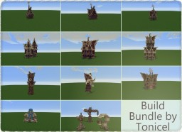 Medieval Build Bundle by Tonicel [Free to Use] w/ Schematic Minecraft Project
