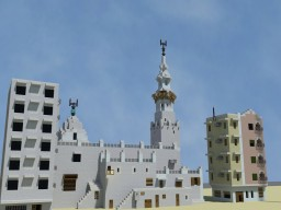 Mosque in Old Town Jeddah, Makkah Province, Saudi Arabia Minecraft Map & Project