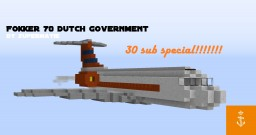 Dutch government Fokker 70 (PH-KBX) Minecraft Project