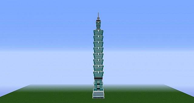 Taipei 101 Taiwan S Tallest Tower Minecraft Project