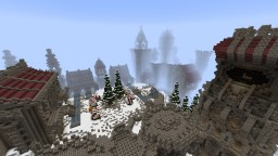 Lonely Castle on the snowy Mountain Minecraft