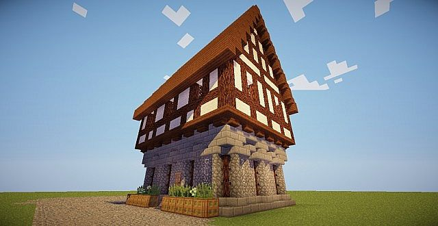 medieval german/czech house (test build tt) minecraft project