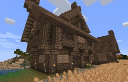 Farm House + Barn Minecraft