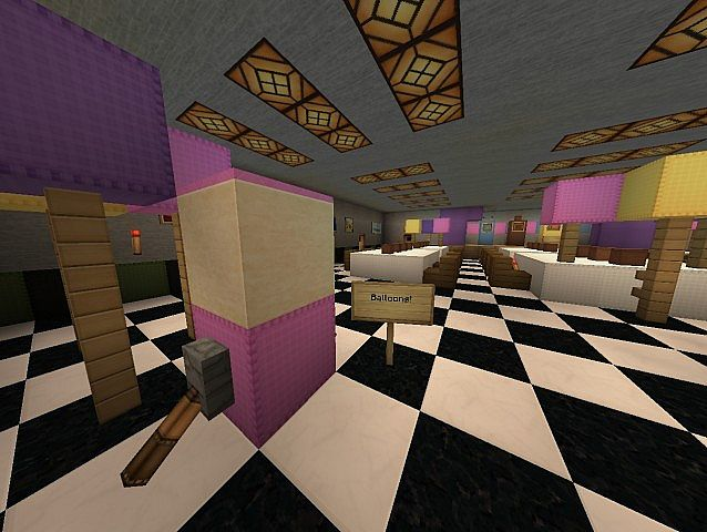 Freddy Fazbear S Pizzeria Fnaf2 Minecraft Project