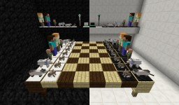 3D Chess Set Steve & Alex