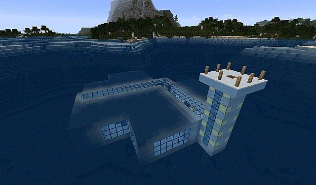 Underwater House 1 7 10 Minecraft Project