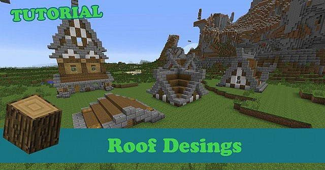 tutorial minecraft roof designs pc ps4 xbox pe