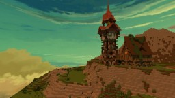 Steampunk / Medieval ClockTower Minecraft Map & Project