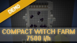 Witch Farm Resource Friendly Minecraft Map & Project