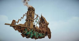 Steampunk Airship - DOWNLOAD Minecraft Map & Project