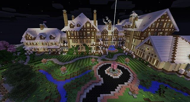 Mansion Halcyon Hall Minecraft Project