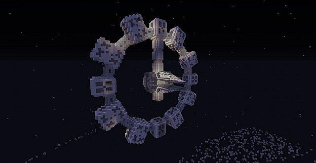 Interstellar Endurance Spacecraft Water World Ice World And Black Hole From Christopher Nolan S Interstellar 2014 Movie Minecraft Map