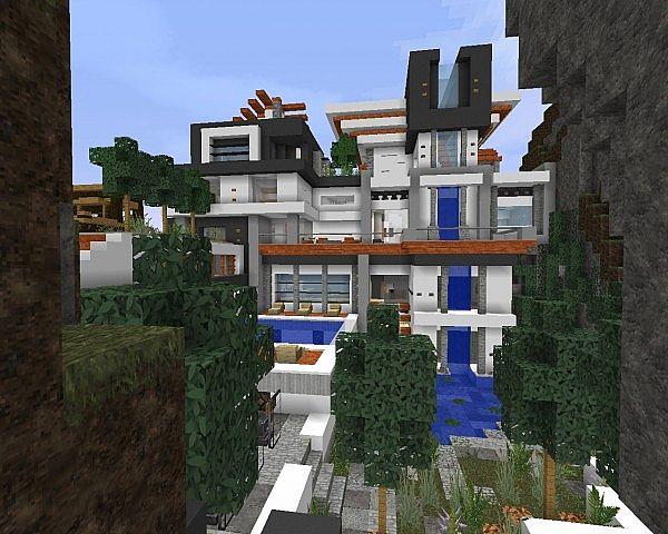 Crazy Modern Mansion Minecraft Map