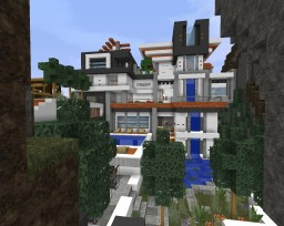 Crazy Modern Mansion Minecraft Map & Project