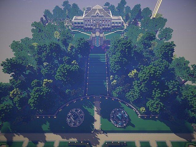 Aerial garden side shot.