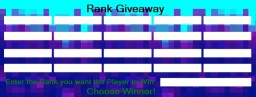 Rank Giveaway Minecraft Mod