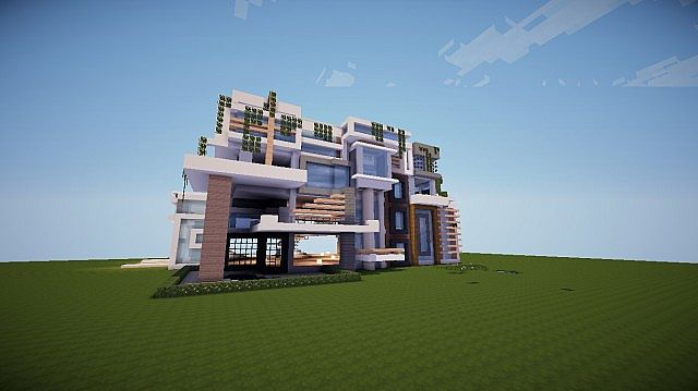 how to build a huge modern mansion in minecraft