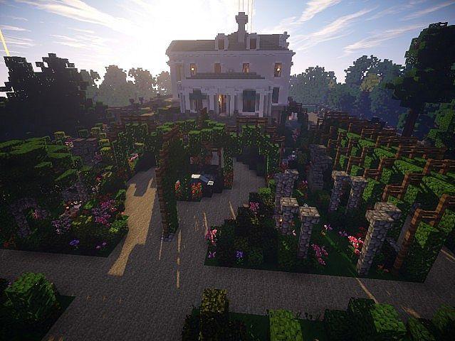 Garden an rosarium.