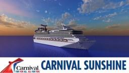 Carnival Sunshine (Cruise Ship) 1:1 Scale Replica [Pop Reel!] Minecraft