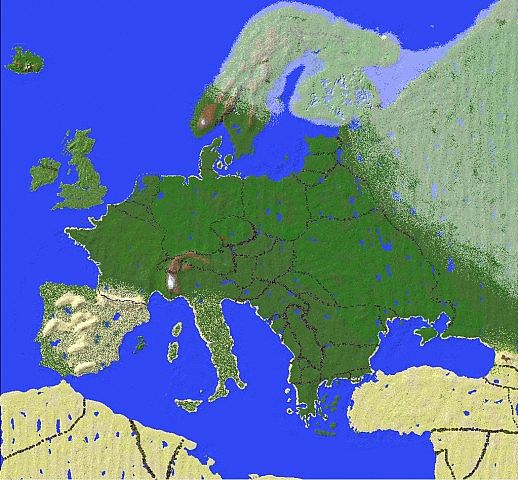 Map Of Europe 24640 X 20480 Minecraft Project
