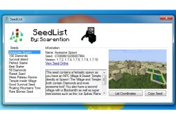 SeedList - Minecraft Seed List