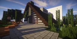 Serenity | Modern A-Frame House [WiP] Minecraft Map & Project