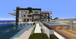 Modern redstone dessert house/villa Minecraft Map & Project