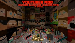 YOUTUBER MOD - COMBINATION OF YOUTUBER BLOCKS AND YOUTUBER ITEMS