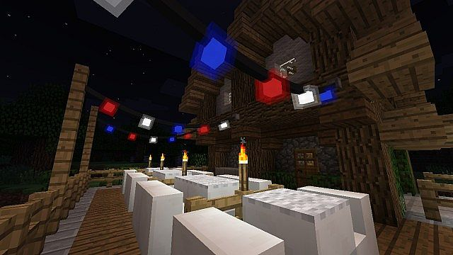 fairy lights on a bistro