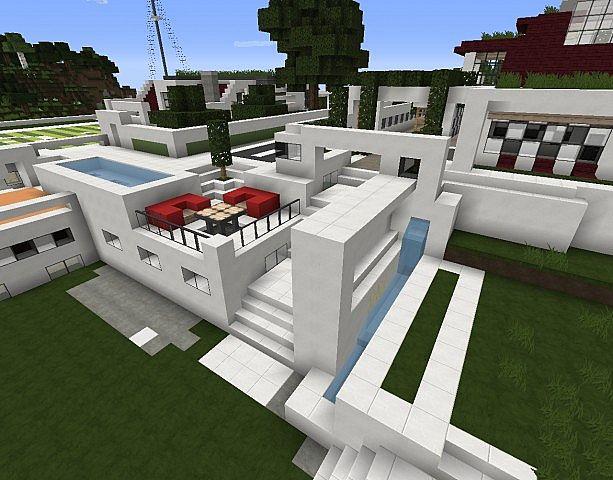Moderne Minecraft Häuser modern living place anhäufung moderner häuser minecraft project