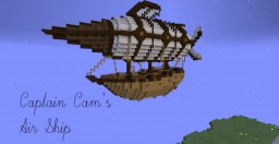 Captain Cam's Air Ship, 15 diamonds? Minecraft Map & Project