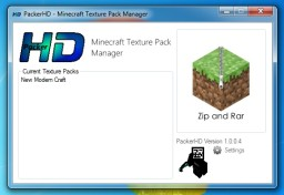 PackerHD - Texture Pack Manager [1.0.0.4] Minecraft