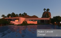 Modern  Lakeside Concept Home Minecraft Map & Project
