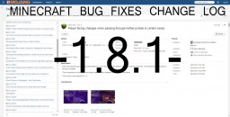 Minecraft Bug Fixes Change Log - 1.8.1 Minecraft Blog