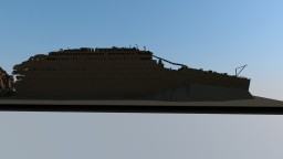 Titanic wreckage on the bottom Minecraft