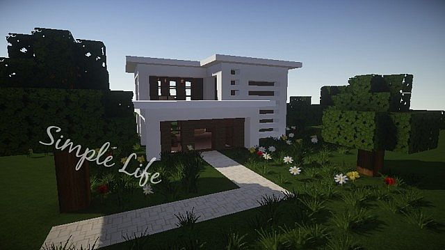 Simple life modern house minecraft project - Simple modern house minecraft ...