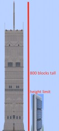 1to1 Scale Lord Of The Rings Inspired Tower 800 Blocks Tall (Almost Complete) Minecraft Map & Project