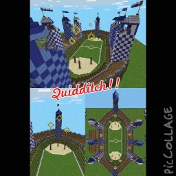 Quidditch pitch blue wolves - most realistic quidditch pitch in minecraft PE!!!! Minecraft Map & Project