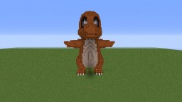 Pokemon - Charmander Statue Minecraft
