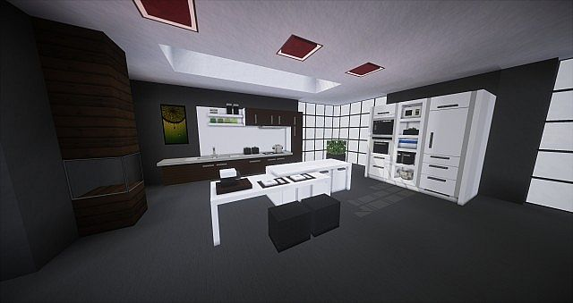 Modern Interior I Kitchen Minecraft Project