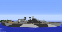 Battleship USS North Carolina Minecraft