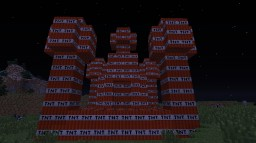 tnt castle (724 bricks of tnt) Minecraft Map & Project