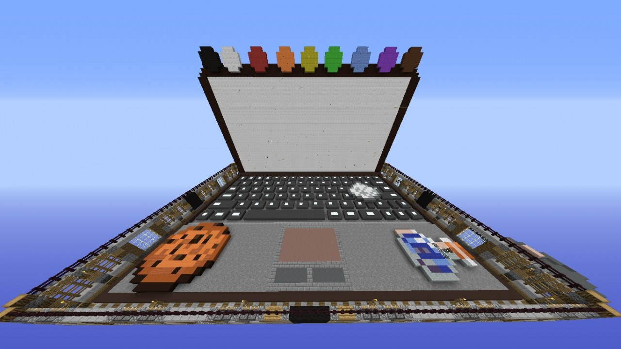 Laptop {Draw My Thing Map} Minecraft Project