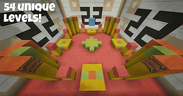 54uniquelevels8398409 [1.8] Infinite Cube Parkour Map Download