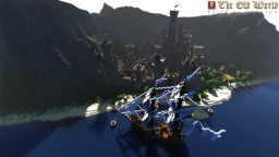 Fortified Medieval Town With Castle, Small Village And A Ship By MrBatou Minecraft Map & Project