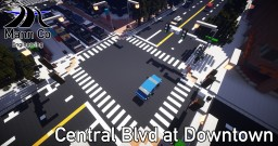 Central Boulevard at Downtown | Huntington City | ECS Minecraft