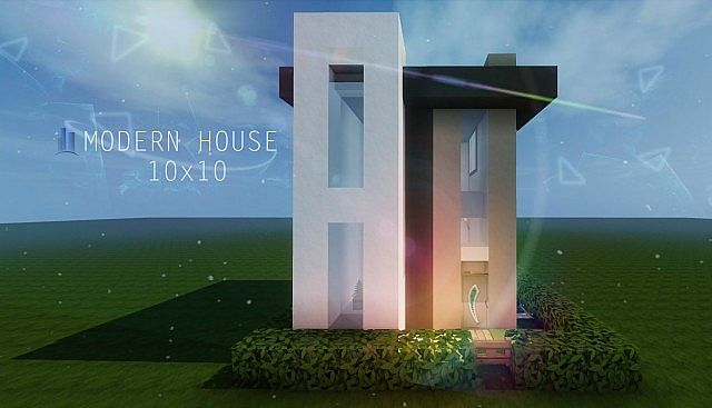 10x10 modern house tutorial minecraft project for Modern house tutorial