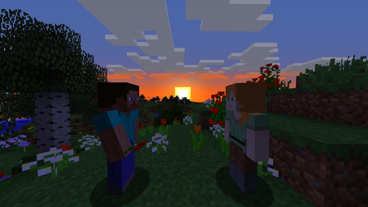 The Love Story Of Steve And Alex Minecraft Blog