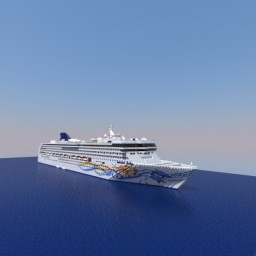 Norwegian Spirit-Cruise Ship[Full Interior] Minecraft Map & Project